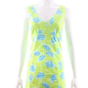 LILLY PULITZER GREEN SLEEVELESS COTTON DRESS 10